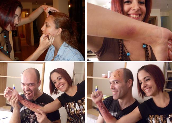 Curso, cursos de verano de maquillaje fx en Academia C10 de Madrid.