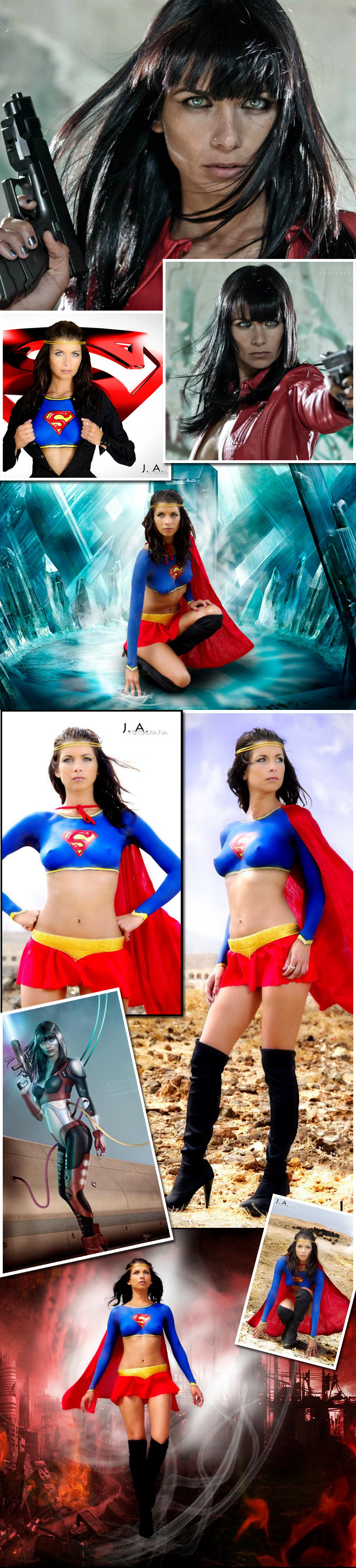 super heroes heroinas woman girl body painting