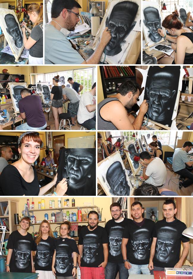 Aerografia-pintura-camisetas-aerogrago-alumnos-cursos-academia-c10-carlos-diez-dibujo-comic-ilustracion-