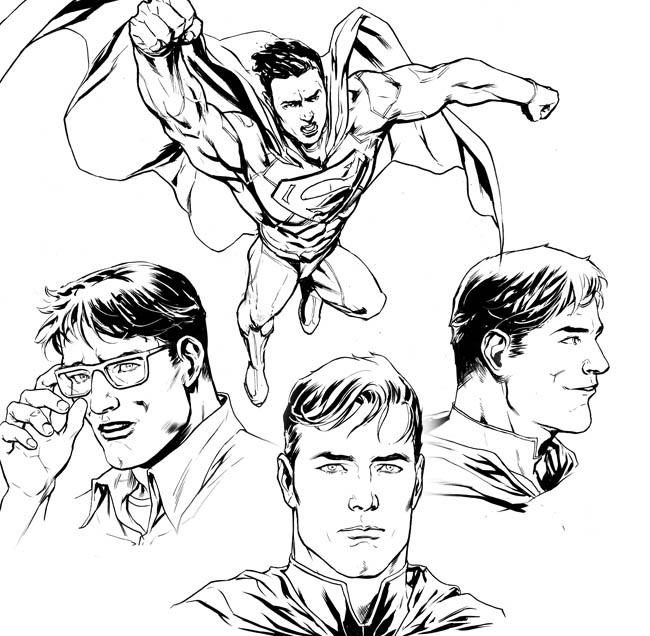 Superman-dibujo-comic-xermanico-dc-profesor-dibujo-ilustracion-digital-academia c10-c10-carlos diez-madrid-1
