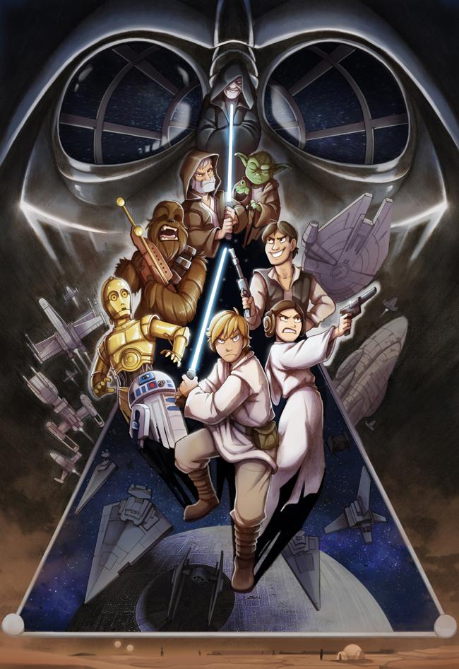 Darth Vader-Han solo_princesa Leia-r2d2-c3po-luke skywolker-chewacca