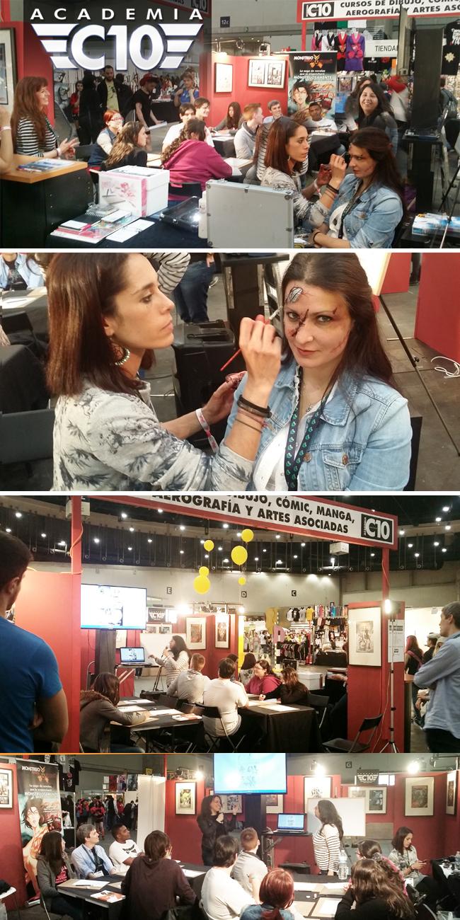 Cursos de dibujo y maquillaje en Expomanga por Academia C10 -5