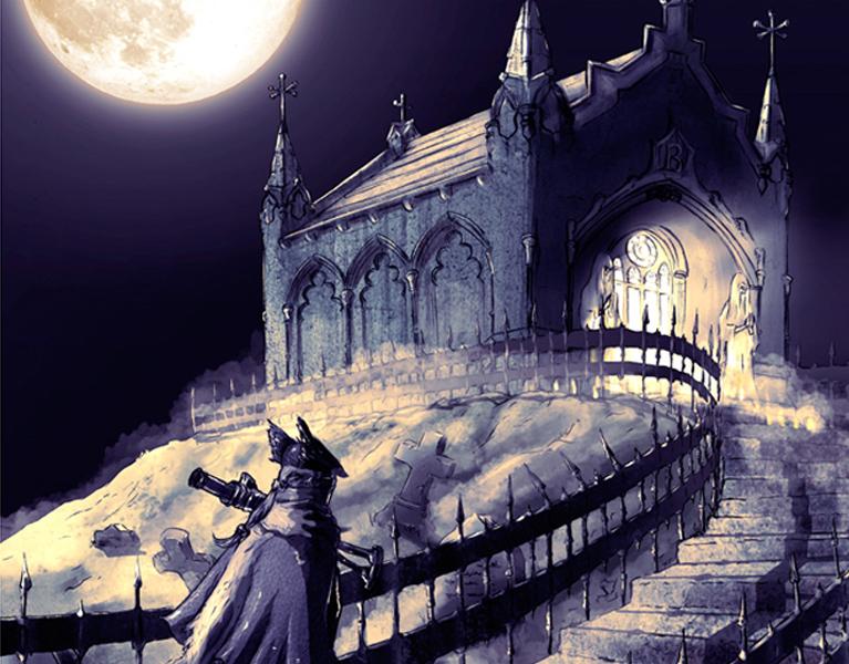 Bloodborne-Illustration-dibujo-profesional-masterc10-cursos-verano